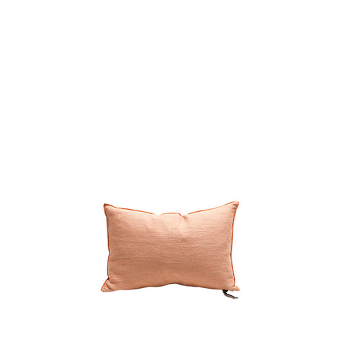 Cushion - Vice Versa / Crumpled Washed Linen - Melon/Givre - 40x60cm