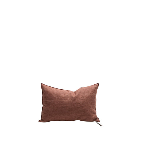 Cushion - Vice Versa / Crumpled Washed Linen - Muscade / Givre - 50x50cm