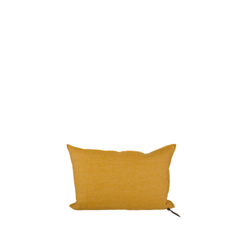 Cushion - Vice Versa / Crumpled Washed Linen - Ocre / Givre - 40x60cm