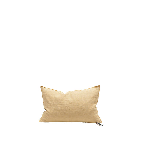 Cushion - Vice Versa / Crumpled Washed Linen - Paille/Givre - 40x60cm