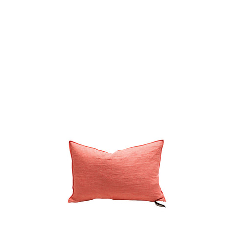 Cushion - Vice Versa / Crumpled Washed Linen - Pasteque / Givre - 50x50cm