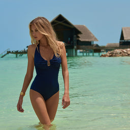 Tampa - One Piece - Zigzag - Navy
