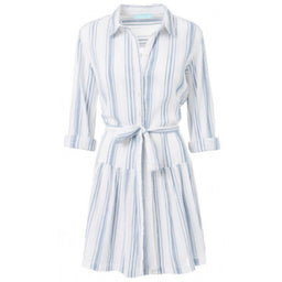Amelia - Shirt Dress - Stripe Blue / White