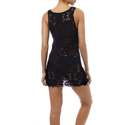 Barrie Lace Short Dress - Black