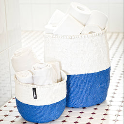 Kiondo basket - 50/50 - Blue / White