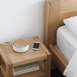 Eclipse - 3 USB Charger Station - White / Wood