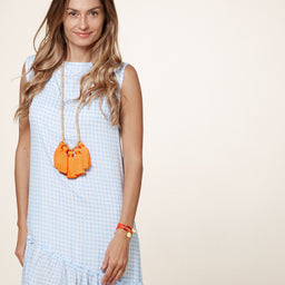 Kara Dress - Gingham - Cornflour