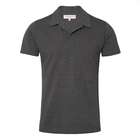 Felix - Polo Shirt - Pique Onyx / Charcoal Melange