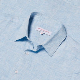 Morton - Tailored Fit Linen Shirt - Heron
