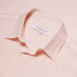 Morton - Linen Tailored Fit Shirt - Camelia