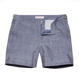 Bulldog Swim Shorts - Mid Length - Chambray stitch