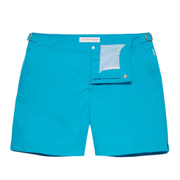 Bulldog Swim Shorts - Mid Length - Azure