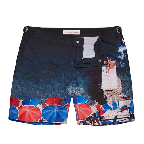 Bulldog Swim Shorts - Mid Length Photographic - Brolly Folly