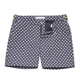 Bulldog Swim Shorts - Mid Length - Jacquard Fish Scale