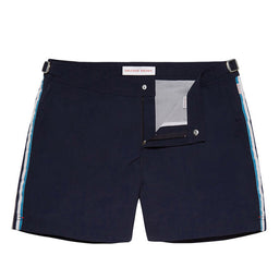 Setter Swim Shorts - Short Length - Navy / White / Riviera
