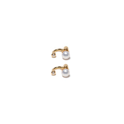 Single Gravitation Earrings - Pearl / Yellow gold