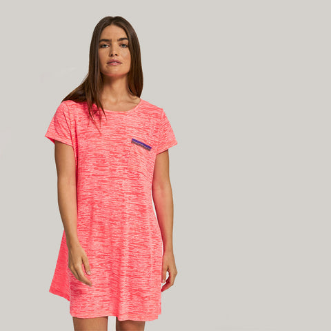 T-Shirt Dress - Hot Pink