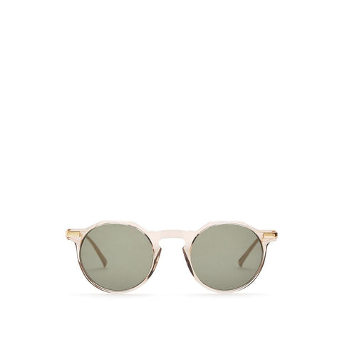 Paris III Sunglasses - Champagne / Gold Metal - Classic Green lenses