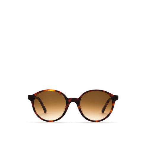 Capri Sunglasses - Tortoise Shell Brown - Gradient Brown lenses