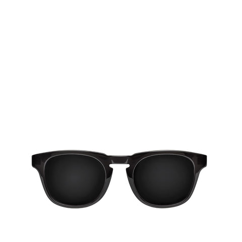 Milano Sunglasses - Black Crystal - Black Mirror lenses
