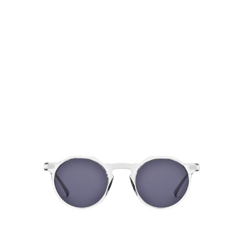 Paris III Sunglasses - Crystal / Silver - Classic Blue