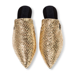 Oro Slippers - Gold