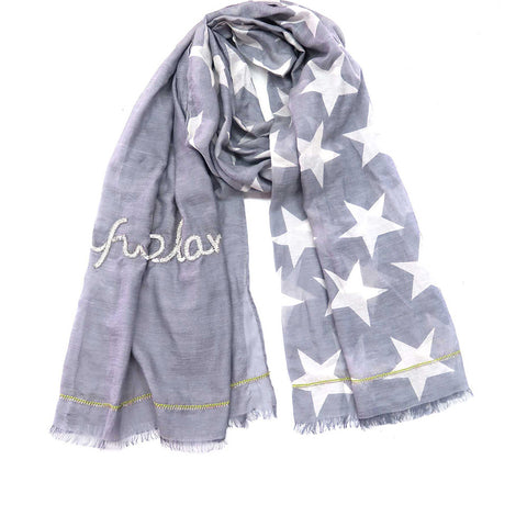 Scarf - Beautiful Planet Star - Grey
