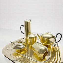 Form Tea Pot - Brass