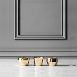 Candle Holder - Kin Brass - Set of 3 Pieces