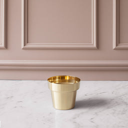 Herb Pot - small - Brushed Brass