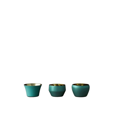 Candle Holder - Kin Azure - Set of 3 Pieces