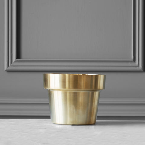 Flower Pot - Xsmall - Brushed Brass
