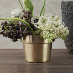 Flower Pot - small - Brushed Brass