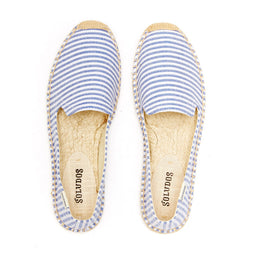 Smoking Slipper - Seersucker - Blue/White
