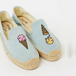 Ice Cream Platform Espadrilles - Chambray