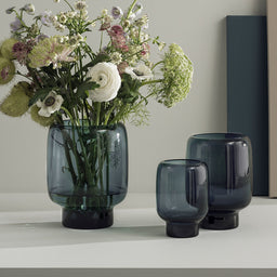 Hoop Glass Vases - Midnight Blue