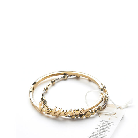 Believe Bangle + Tribal Gypsy - Yellow Gold