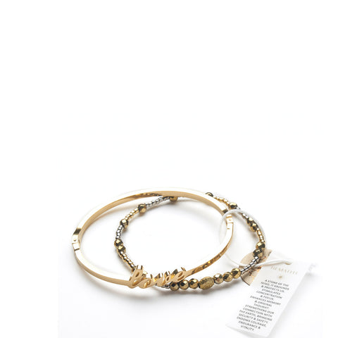 Love Bangle + Tribal Gypsy - Yellow Gold