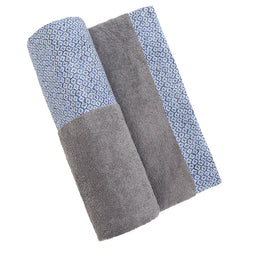 Beach Towel - Grey / Patmos print