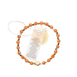 Red Aventurine Healing Bracelet - Yellow Gold nuggets