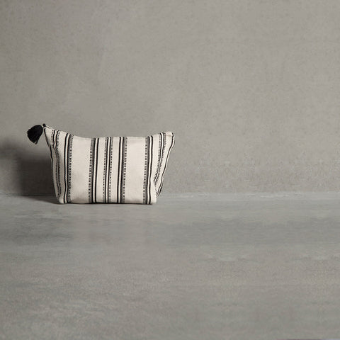 Make Up Purse - Black / White