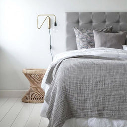Bed Throw - Grey