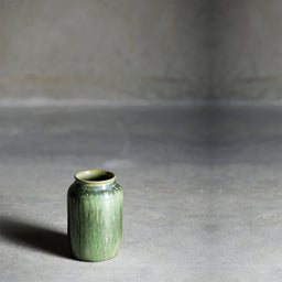 Vase glaze ceramic - Green