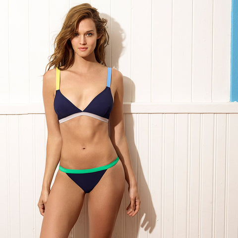 Martinique bikini - Block Navy Multiprint