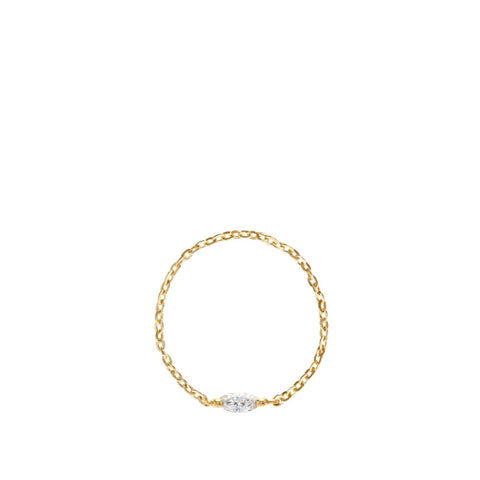 Marquis Cut Diamond Chain Ring