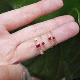 Ruby Chain Ring Small