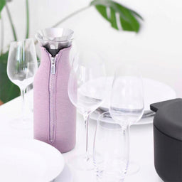 Fridge Carafe with woven cover - Rose
