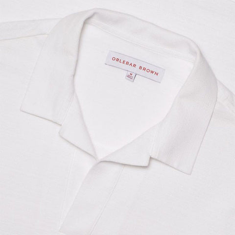 Felix Open Pique Polo Shirt - White