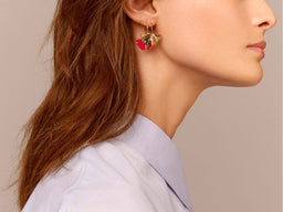 Tangerine Earrings - Red Lacquered