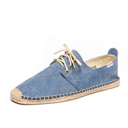 Canvas Derby Lace Up - Washed Marine Blue